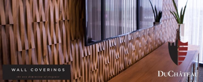 Sculptured wood accent wall